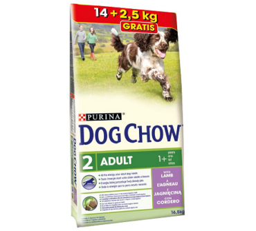 Purina Dog Chow adult bárány 14+2,5Kg