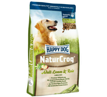 Happy Dog Naturcroq bárány-rizs 15+3kg