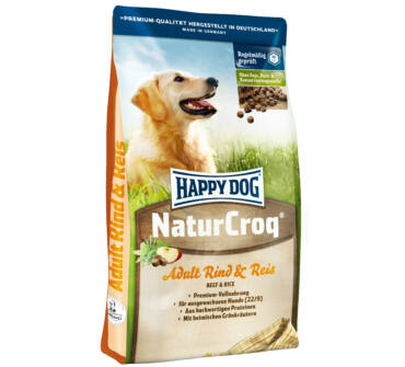Happy Dog naturcroq marha-rizs 15+3kg