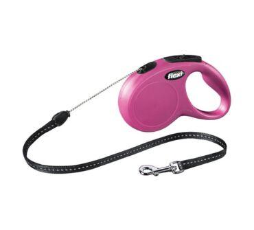 Flexi S New Classic Cord  rózsaszín