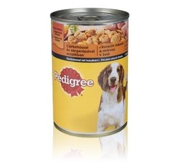 Pedigree 400g konzerv adult csirke, sárgarépa