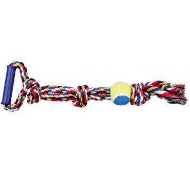 Kötéljáték teniszlabdával, fogantyúval trx3280
