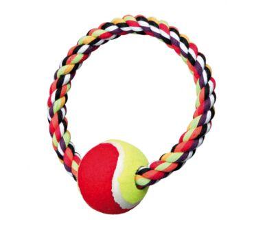 kötéljáték karika labdával trx3266